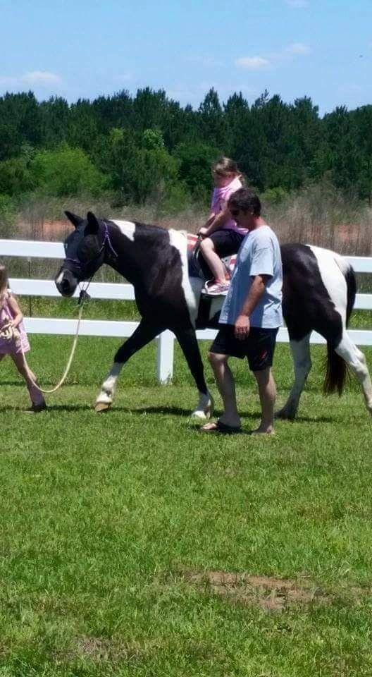 therapy riding lesson at Hooties Horse Haven therapy ranch Leesburg Ga